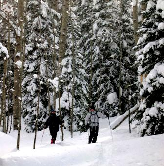 Snowshoeing at Vista Verde Ranch