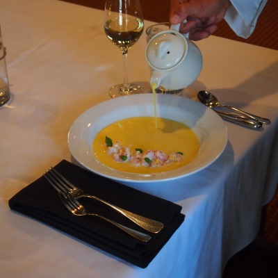 A delicious appetizer prepared by the gourmet chefs at Vista Verde Guest Ranch