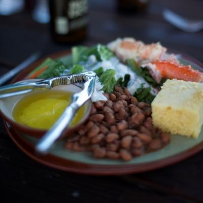 A delicious patio dinner at Vista Verde Guest Ranch.