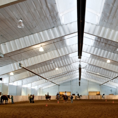 The indoor arena at Vista Verde Guest Ranch located north of Steamboat Springs Colorado, its even heated in the wintertime!