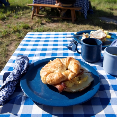 Breakfast sandwiches prepared by the chefs at Vista Verde Guest Ranch
