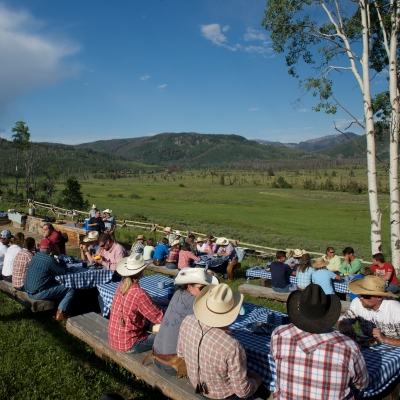Steakride view at Vista Verde Guest Ranch located near Steamboat Springs Colorado,