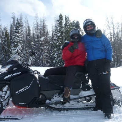 guided snowmobiling at Colorado ranch resort