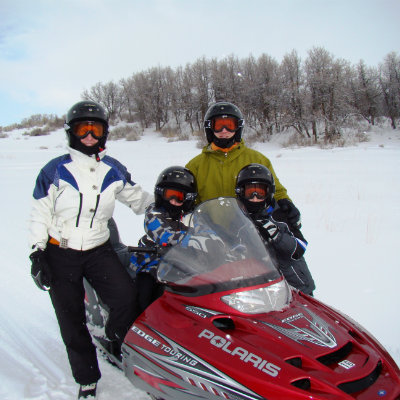 snowmobile-at-a-winter-guest-ranch