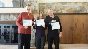 Mark, Kim and Mike with their Guide Training diplomas.