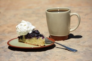 blueberry cornmeal cake recipe at an all-inclusive Colorado resort