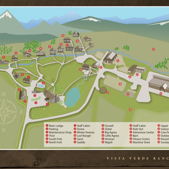 luxury ranch resort map