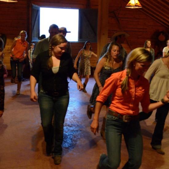 western dancing at a dude ranch