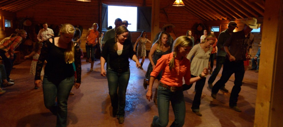 western dancing at a dude ranch