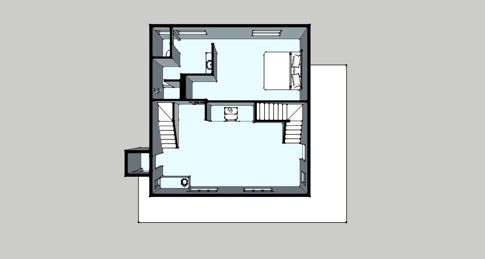 Cabin floor plan at Vista Verde Guest Ranch.