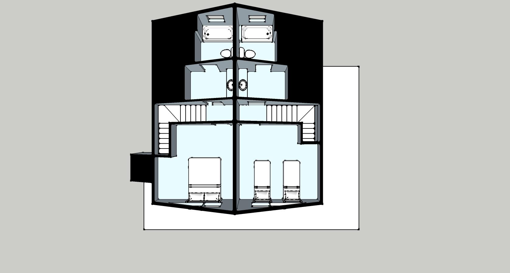 Zirkel cabin floor plan at Vista Verde Guest Ranch
