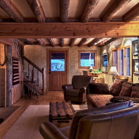 Cabin interior at Vista Verde Guest Ranch located north of Steamboat Springs Colorado