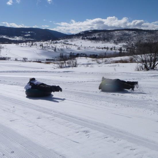 tubing on spring break in Colorado