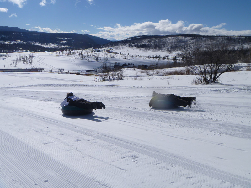 tubing on spring break in Colorado