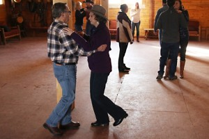 learning to dance at winter ranch