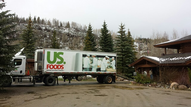 US Foods delivery truck at luxury dude ranch Vista Verde