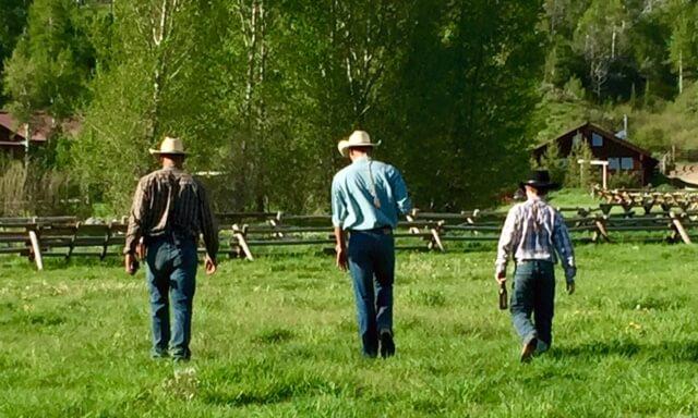cowboy at dude ranch