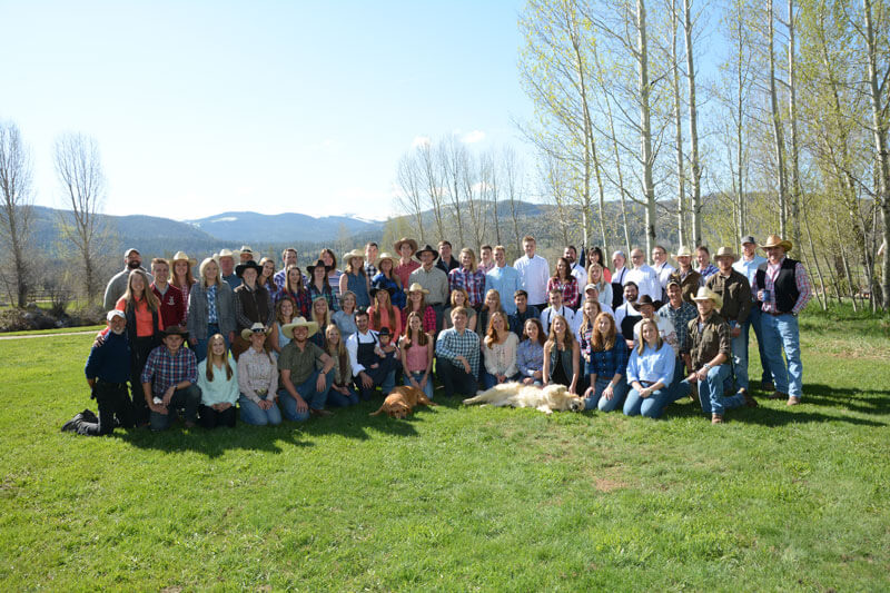staff at a luxury dude ranch