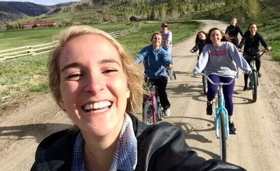dude ranch staff on bikes