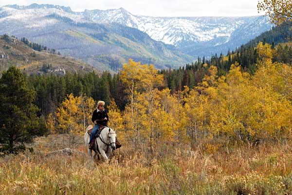 Autumn Vacation Fall Foliage Mountain Colorado Guest Ranch Vista Verde Aspens