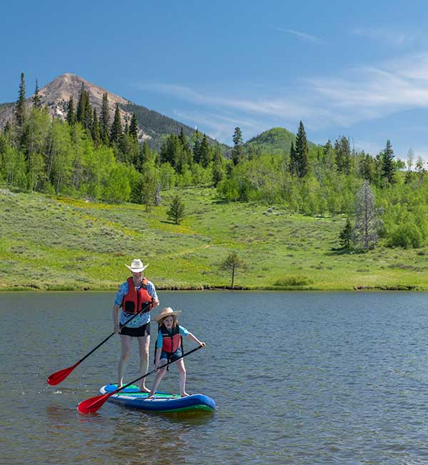 Summer Vacation Colorado SUP Lake