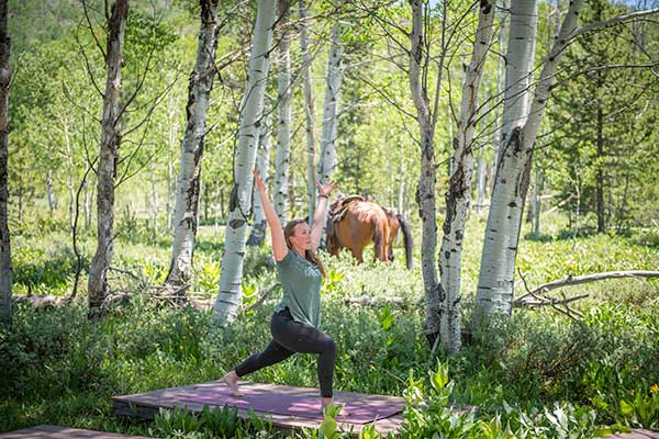Summer Vacation Ranch Colorado Vista Verde Yoga Relax
