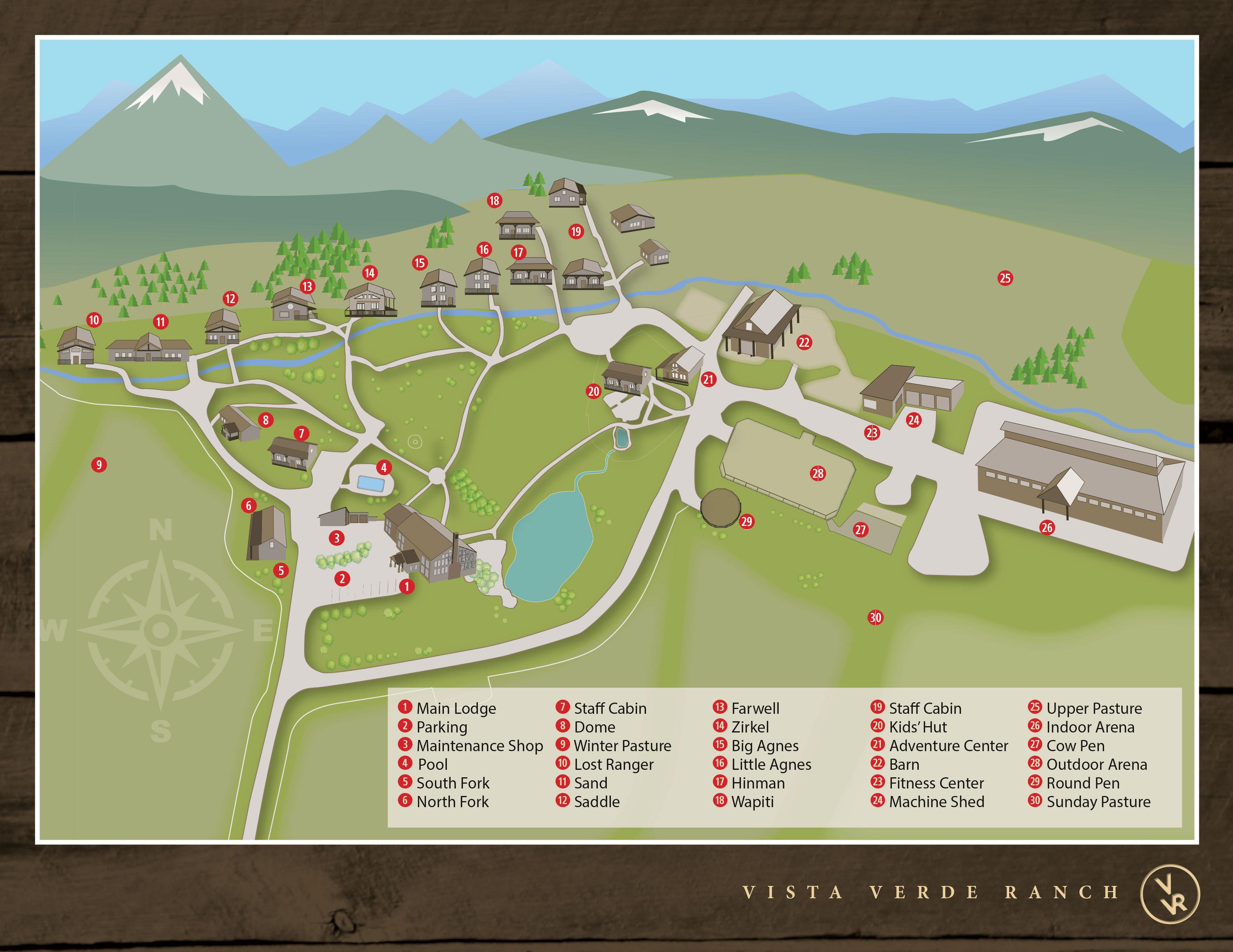 Map of Luxury Ranch Vista Verde Colorado