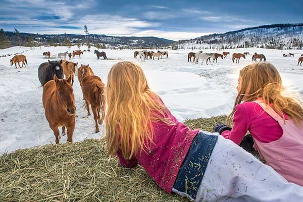 Winter Family Vacation Colorado Family Holiday Christmas Dude Ranch
