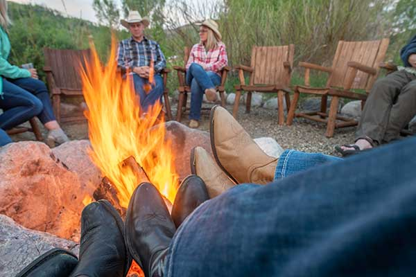 Campfire Cowboys Relax Dude Ranch Vacation in Colorado Vista Verde Ranch