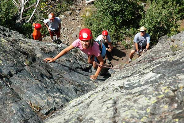 Summer Activities Rock Climbing Vista Verde Ranch Colorado Family Vacation