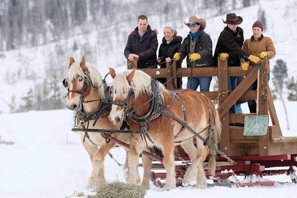 Winter Fun at a Colorado Dude Ranch Sleigh Rides Vista Verde Christmas