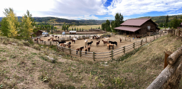 corral and barn at Colorado dude ranch